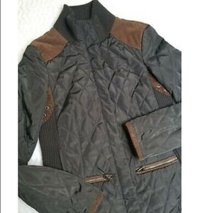 Zara Quilted Army Green Jacket - XS